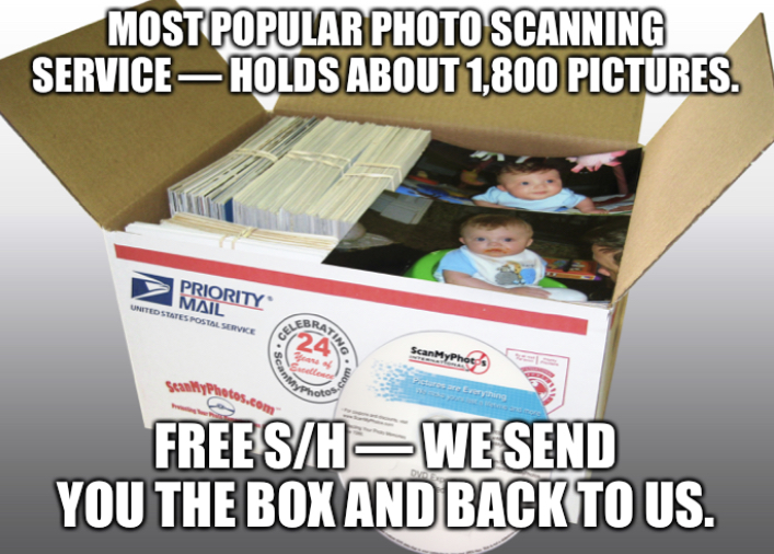 Prepaid Photo Scanning Box - Starting at $145 per box