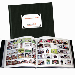 Photo scanning photo index book