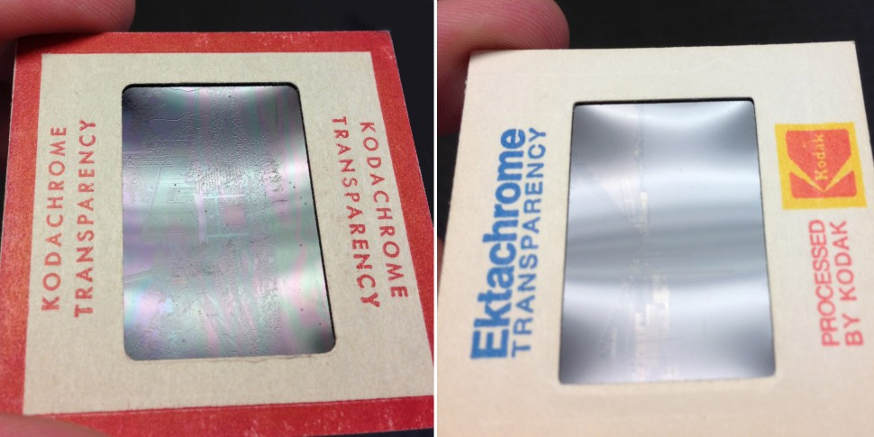 Side-by-side comparison of Kodachrome vs Ektachrome