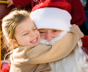Santa Gets a Bear Hug