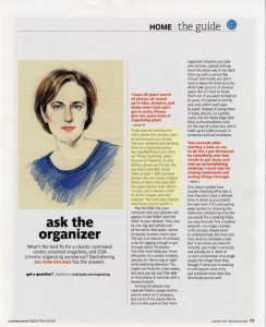 Real Simple Ask the Organizer August 2014