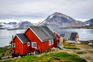 Red house from Kulusuk in Eastern Greenland