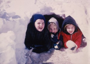 A childhood picture of Karen with her sister and brother.