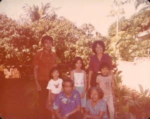 Taken in 1979, you'll find Jeri's grandparents sitting in the front. These two immigrated from the Philippines so their family could have a better life.