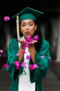 grad with blooms 200x300 - 5 Ways to Make Graduation Photos Special