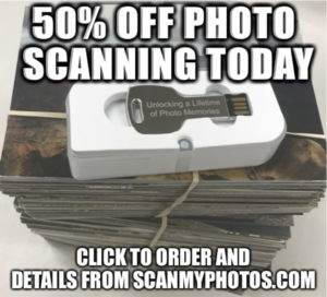 50offphoto 300x272 - Photo Scanning 50%* Off Flash Sale