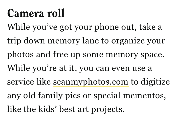 omag4 - Oprah Magazine Spring Cleaning Tip on Photo Scanning