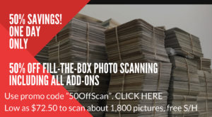 save50 300x165 - Save 50% on Digitizing Your Pictures