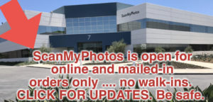 ScanMyPhotos is open for online orders and fulfillment