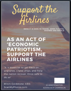 Support the airlines and travel
