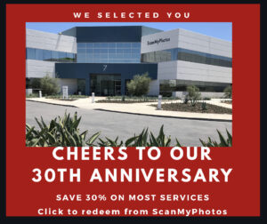 ScanMyPhotos Turns 30 years old
