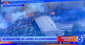 KTLA: Irvine Wildfire evacuation