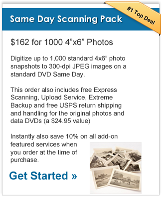 specials vip pack 2 - Same-Day* Photo Scanning Package at 300 dpi Now $162