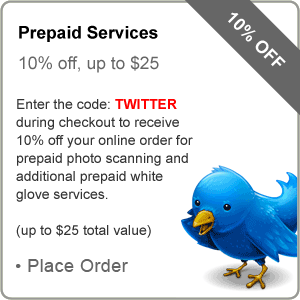 specialTwitter - Twitter Promo Code Saves You 10% on Photo Scanning to DVD